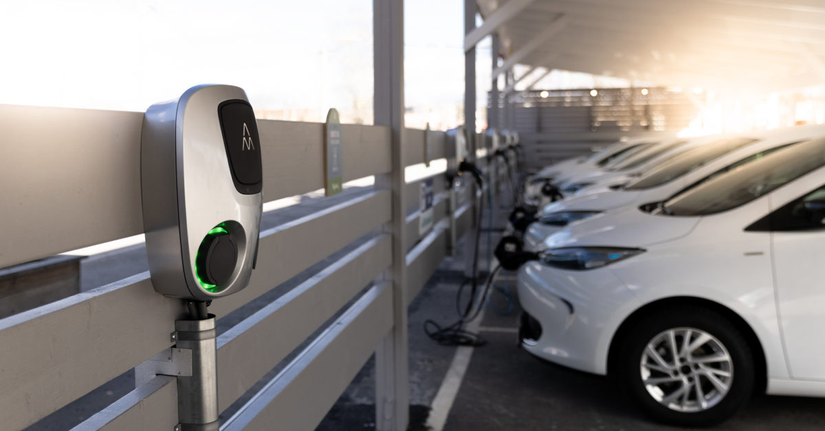 Charging stations Charge Amps Aura charging white electric cars